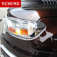 2017 For Ford Everest 2016 Accessories ABS Chrome Headlights Cover Parts Trim For FORD Everest 2016+ New Decorative Accessories(China)