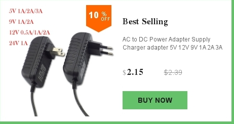 New 3.5*1.35mm Round Pin Wall Charger For 18650 Battery Flashlight DC 5V EU Plug