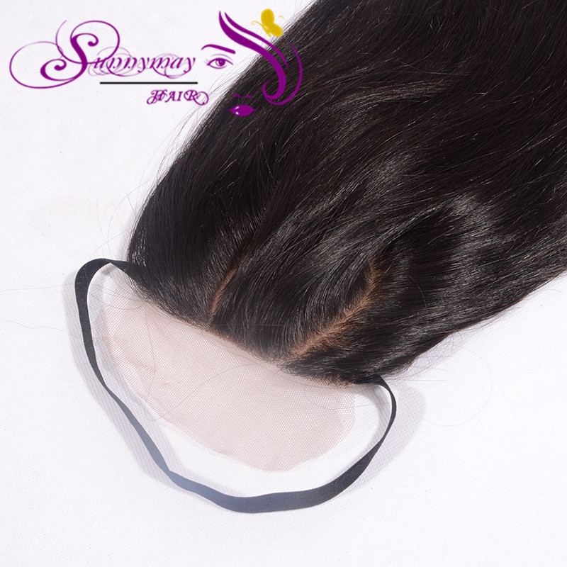 The Best 7A Virgin Human Hair Cheap Silk Base Closure With O Part,Strap Unprocessed Brazilian Hair Straight Closures<br><br>Aliexpress