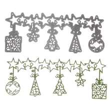 Metal Cutting Dies Stencil Scrapbook Album Paper Card Embossing Craft DIY Tree&star Scrapbooking Christmas Xmas Ornament