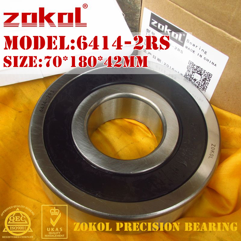 ZOKOL 6414-2RS bearing 6414 2RS 180414 Deep Groove ball bearing 70*180*42mm<br>