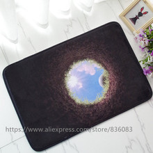 Front door mat bathroom mat soft warm strong water absorption 3D The golf ball HOLE carpet with anti-slip back