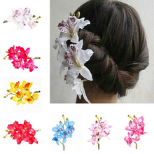 1PC New Bridal Fashion Sytle Flower Hairpin Brooch Wedding Bridesmaid Party Accessories Hair Clip(China)