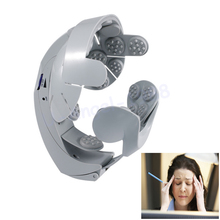 1pcs Head Vibration Massage Easy-brain Massager Electric Head Massage & Relax Brain Acupuncture Points Stress Release Machine(China)