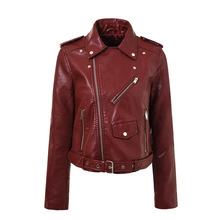 Buy Autumn Winter Pu Leather Jacket Women Fashion Wine Red Motorcycle Zipper Coat Short Faux Leather Biker Jacket Soft Jacket Female for $29.90 in AliExpress store