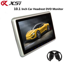 XST 10.1 Inch Car Headrest Monitor DVD Player Support HD 1080P Video USB/SD Input Built-in IR/FM Transmitter Speaker(China)