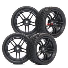 9065-8001 RC Rubber Sponge Speed Liner Tires Tyre Wheel Rim 1:10 1/10 On Road Model Car Tire HOBBY(China)