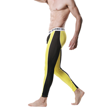 New Men Modal Long Johns Spice Mesh Warm Thermal Trousers Underwear Legging Pants