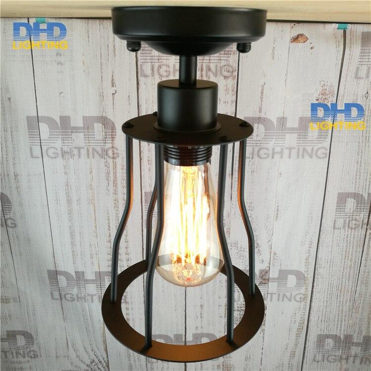 Free shipping sample order of North American style Vintage nostalgic bar black iron pendant lights single bar lamps<br><br>Aliexpress