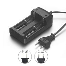Universal Travel Dock Dual 18650 Battery Charger 4.2V EU Plug For CR123A 16340 14500 26650 Li-ion Rechargeable Battery(China)