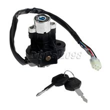 Aluminum Motorcycle Ignition SwitchPitbike Scooter Motorbike Parts cdi Lock with Keys for Suzuki GSXR 600 750 GSX-R600 GSX-R750(China)