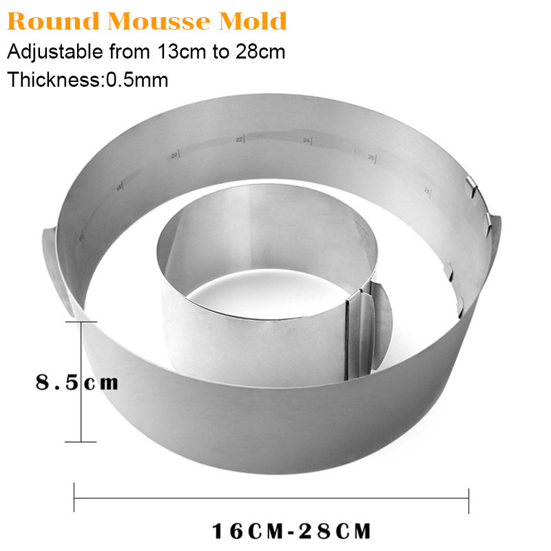 TEENRA-2Pcs-Round-Square-Mousse-Ring-Retractable-Stainless-Steel-Cake-Mold-Adjustable-Mousse-Ring-Circle-Baking (2)_