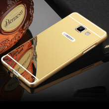 For Samsung Galaxy C5 C5000 Phone Case New Mirror Back Cover & Aluminum Metal Frame Hot Phone Bag Housing For Galaxy C5
