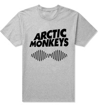 Arctic Monkeys Sound Wave Mens Shirt T Shirt Tee Top Indie Rock And Roll Band 100% cotton T shirt(China)
