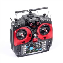 Graupner mz-24 PRO 12 Channel 2.4G.HZ HoTT Color TFT Radio System Mode 1/2 (Red)