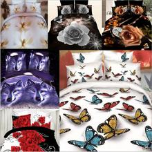 High Quality 3D Animal Bedding Sets Home Bedding Sets Bedsheet 4pcs of Bedding Sets Double Duvet Cover Sets Classic Queen Size