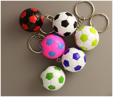 10pcs Hot sale Small Rubber Soccer ball Key chains Toy Key rings birthday gifts football toys Sports wholesale
