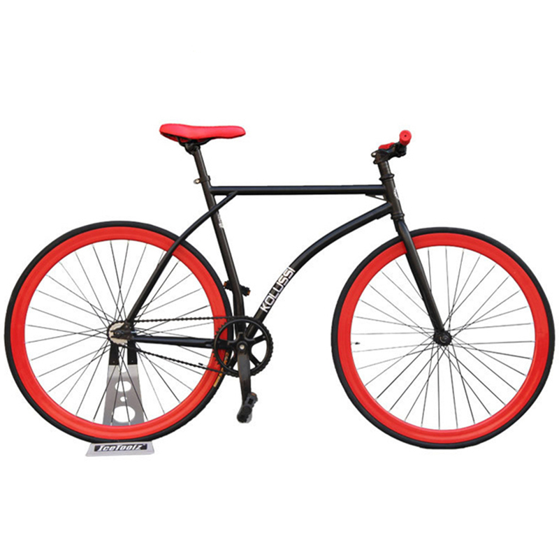 Fixie Bike Bicycle DIY 700C 52CM Retro Steel Frame Bicicleta Fixed Gear Bike Road Bike Steel Frame Fixie Bicycle Fixed Gear