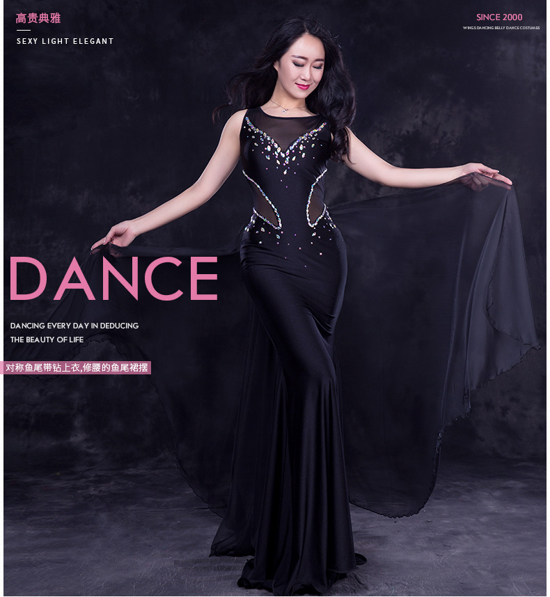 Luxury belly dance clothes mesh stones belly dance dress girls belly dance clothing performance belly dance dress M,L