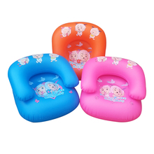 PVC inflatable sofa children inflatable chair Children's cartoon single person sofa color random delivery