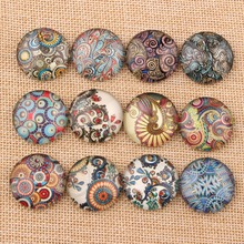 Buy Onwear Mixed Pattern Round Photo Glass Cabochon 10mm 12mm 14mm 18mm 20mm 25mm diy flatback handmade jewelry cameo findings for $4.50 in AliExpress store