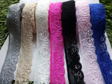Wholesale 10 yards  Quality embroidered stretch lace ribbon width 3.5 cm, DIY Clothing / Accessories / floral accessories, etc.