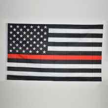 USA B&W Flag Thin Red Line Stripes American Flags grommets , Firefighter Flags ,Black, White, Red Flags