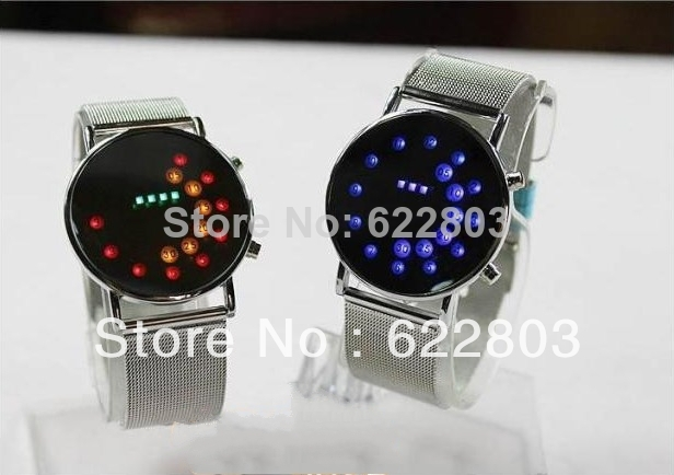 Innovative Japanese Stylish Digital Display Mirror  LED Watches for women and men full steel watch free shipping<br><br>Aliexpress