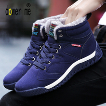2017 Winter Men Sneakers Men's Boots Man High Top Warm Sneakers Outdoor Male Athletic Shoes Comfortable Running Shoes For Men(China)