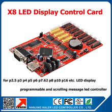 Ready to ship easy  to use Kaler led message display controller single dual color led control card X8 led pixel controller board