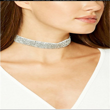 2cm Lady Charming Twinkle velvet strip Collar Choker Necklace Wedding Birthday Jewelry 6 colors Hot sale gifts Valentine gifts