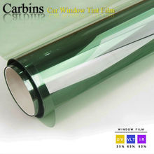 Car front window tint solar protection film 2ply light green color 0.76*3m roll, suitable for most cars.