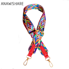 ANAWISHARE Handbag Belt Colorful Strap Shoulder Bag Strap Replacement Handbag Strap Accessory Bag Part Adjustable Belt For Bag