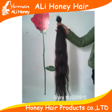 1kg 40-80cm natural black virgin russian raw human hair bulk no attachment can bleach blonde color