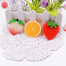 Wholesale 50pcs Plastic 5cm Artificial Fruit Slices For Wedding Party Home Dining Table Decoration Marriage Kids Learning Toys