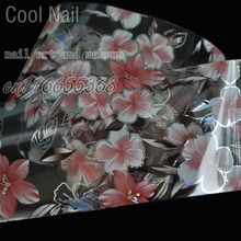 More Than 250 Design Beautiful Designed Fashion DIY Nail Deaigned Glue transfer Foil Red Sunflower Laser Clear Leaf GL14