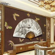 beibehang Dreams Ancient Landscape Butterfly New Chinese Backdrop Customized Large Mural Nonwovens Wallpaper