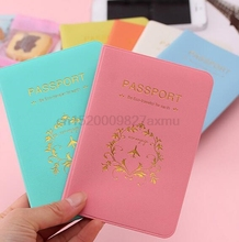 100pc Fashion New Passport Holder Documents Bag Sweet Trojan Travel Passport Cover Card Case Fast shipping for DHL Fedex TNT