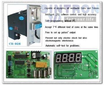 Multi Coin Selector CH-926 &amp; USB time control board<br><br>Aliexpress