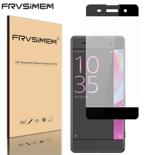 FRVSIMEM Full Tempered Glass For Sony Xperia XA Ultra C6 F3212 F3216 XA F3111 F3112 Dual Coverage Screen Protector Film Case