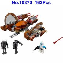 10370 163Pcs Star Wars Attack Of The Clones Hail Fire Droid Bela Building Block Compatible 75085 Brick Toy