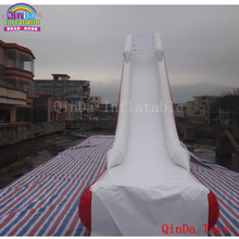 Hot selling 4m height inflatble floating yacht slide,water toys inflatable water slide for yacht