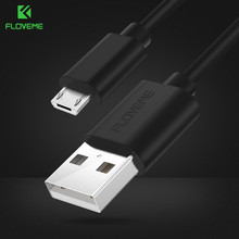FLOVEME Micro USB Cable 5V/2A Fast Charging 1m 2m 0.3m Mobile Phone USB Charger Cable For Samsung Xiaomi Android Cellphone Cabo