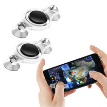 2pcs/lot dual analog Mini Joypad Joystick Smartphone touch cell phone mobile phone Accessory remote game control for Ipad Tablet(China)