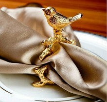 Very happy golden bird upscale luxury hotel  napkin buckle party wedding party napkin ring