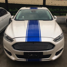 2017 Popular Light Blue Reflective Parallel Line Sticker For Ford Mondeo /Mustang Z2CA512(China)