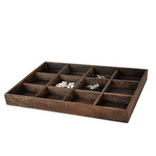 New Solid Wood Wenge Painting Jewelry Display Tray Ring Bracelets Pendant Display Tray Wood Jewellery Display Holder(China)