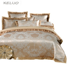 Chinese wedding style Jacquard bedding 100%cotton Bedding Sets Silk Duvet Cover Sets Queen King Size Many Luxury Bedding
