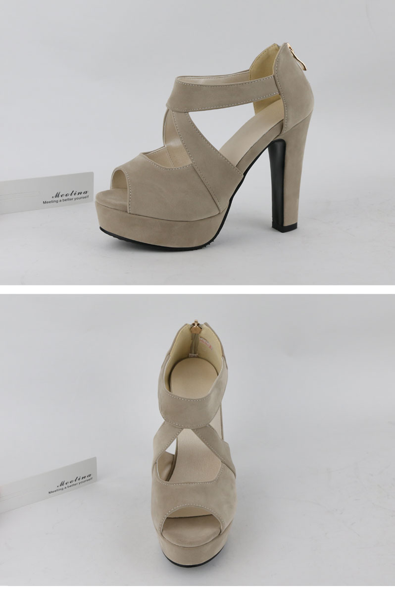 New Women's Platform Sandals, Shoes Cross Strap, High Heel Sandals 9
