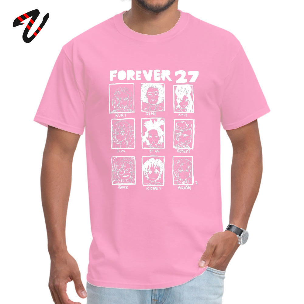 ForeverClub Geek Short Sleeve Tops Tees Autumn Round Neck All Cotton Men T Shirt Geek Clothing Shirt Oversized Forever 27 Club 736 pink